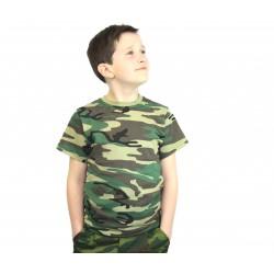 Камуфлированная детская футболка