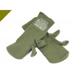 Оригинальные шерстяные перчатки. Армия чехии. Олив.
